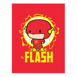 Carte Postale Éclair de Chibi avec l'électricité