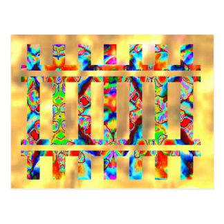 Carte Postale Éclair d'or - étincelle colorée