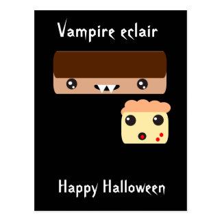 """Carte Postale Eclair """"Halloween heureux """" de vampire"""