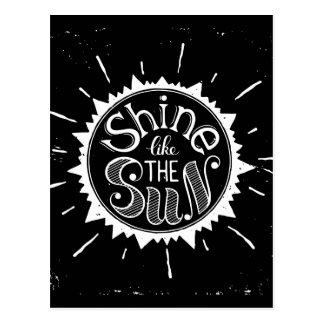 Carte Postale Éclat comme The Sun