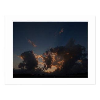 Carte Postale Éclat de nuage de beignet