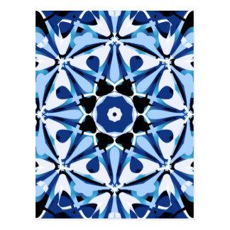 Carte Postale Éclat d'étoile bleue