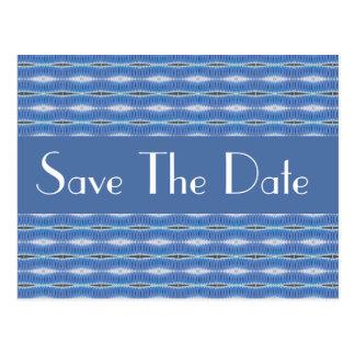 Carte Postale économies bleues de motif la date