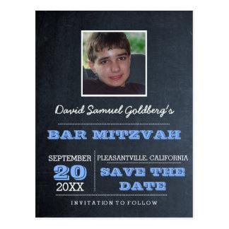 Carte Postale Économies bleues de photo de Mitzvah de barre de