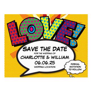 Carte Postale Économies d'amour de mariage d'art de bruit de