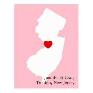 Carte Postale Économies d'amour de New Jersey la date