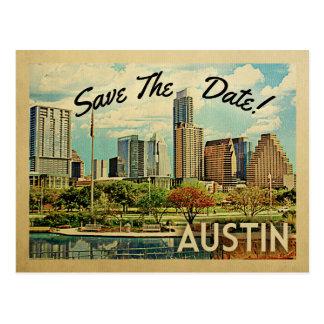 Carte Postale Économies d'Austin la date le Texas