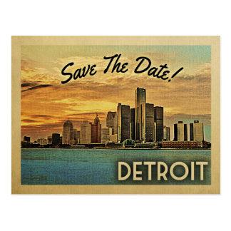 Carte Postale Économies de Detroit la date Michigan
