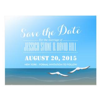 Carte Postale Économies de mariage de thème de plage d'été la