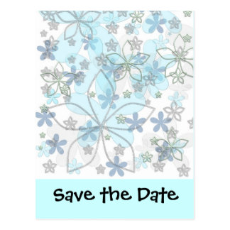 Carte Postale Économies de mariage d'hiver la date