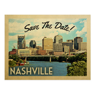 Carte Postale Économies de Nashville la date Tennessee