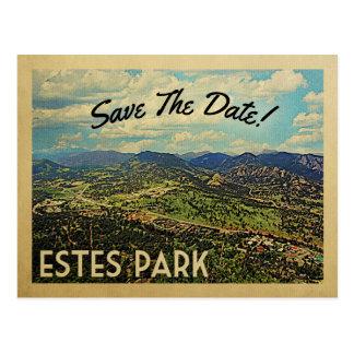 Carte Postale Économies de parc d'Estes la date le Colorado
