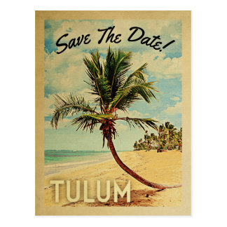 Carte Postale Économies de Tulum Mexique le palmier vintage de