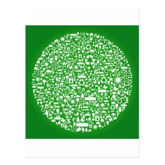 Carte Postale Économies de vert d'Eco le monde