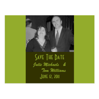 Carte Postale Économies de vert olive la date