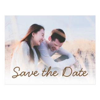 Carte Postale Économies d'invitation de photo de mariage des