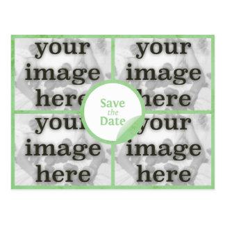 Carte Postale Économies en bon état de vert de quadruple la