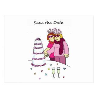 Carte Postale Économies géniales de lesbienne le mariage de