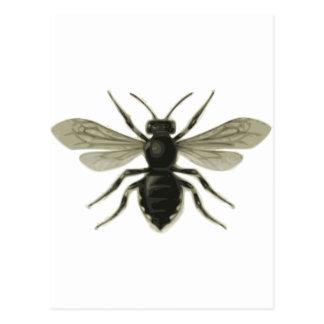 Carte Postale Économies jaunes de noir de reine des abeilles les
