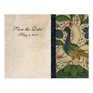 Carte Postale Économies médiévales de faisan la date
