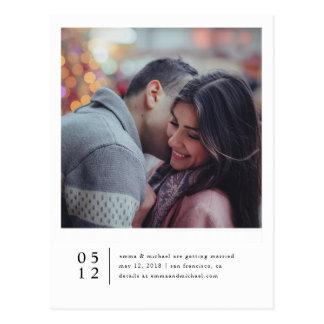 Carte Postale Économies minimalistes de photo la date