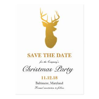 Carte Postale Économies modernes de renne d'or la fête de Noël
