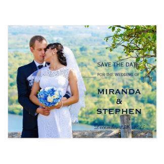 Carte Postale Économies modernes la photo de mariage de date