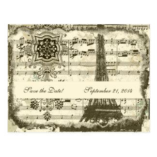Carte Postale Économies noires de crème de musique de Tour