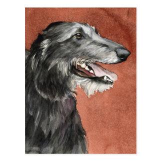 Carte postale écossaise d'art de chien de limier