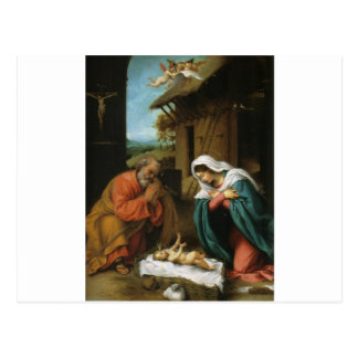 Carte Postale Écriture sainte de christianisme de Jésus de bébé