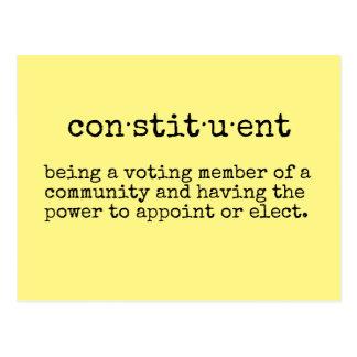 Carte Postale Écrivez votre constituant représentatif