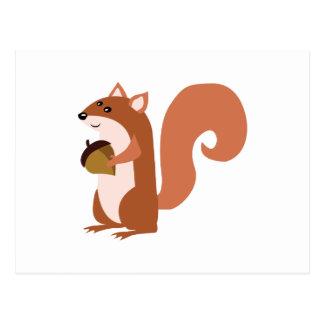 Carte Postale Écureuil avec l'écrou