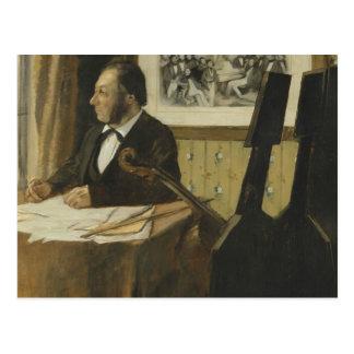 Carte Postale Edgar Degas - le violoncelliste Pilet