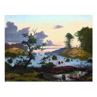 Carte Postale Eduard von Buchan Sunrise au-dessus de paysage du