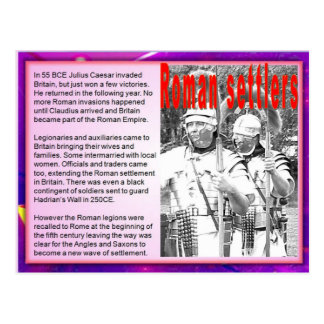 Carte Postale Éducation, colons romains d'immigration