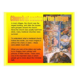 Carte Postale Éducation, histoire, église au centre