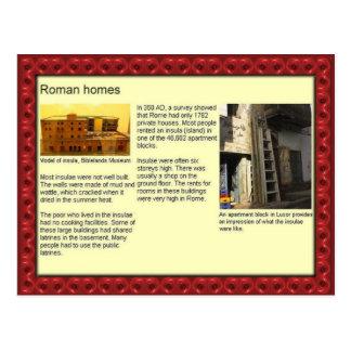 Carte Postale Éducation, histoire, maisons romaines