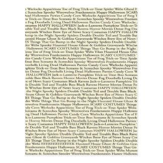 Carte postale éffrayante de mots