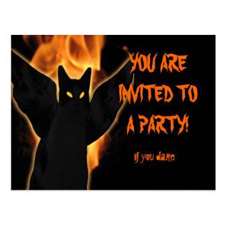 Carte postale éffrayante d'invitation de Halloween