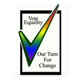 Carte Postale Égalité de vote