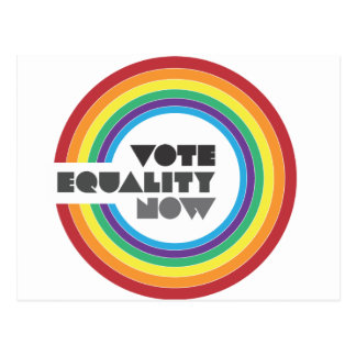 Carte Postale égalité de vote maintenant