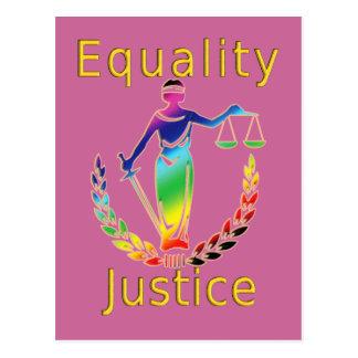 Carte Postale Égalité et justice