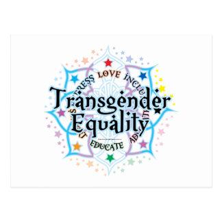 Carte Postale Égalité Lotus de transsexuel