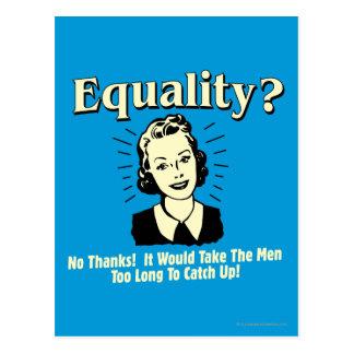 Carte Postale Égalité : Prenez les hommes rattrapent trop