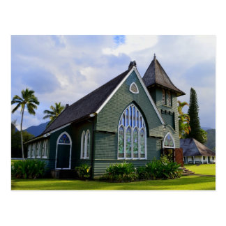 Carte Postale Église de Hanalei, Kauai, Hawaï