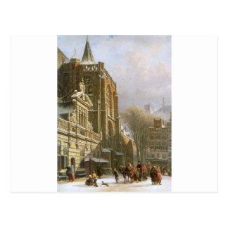 Carte Postale Église de St Michael dans Zwolle par Cornelis