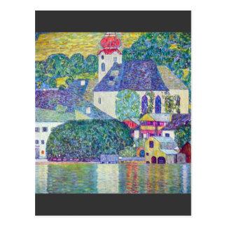 Carte Postale Église de St Wolfgang par Gustav Klimt