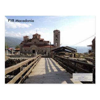 Carte Postale Église médiévale St Clement, Plaoshnik, Macédoine