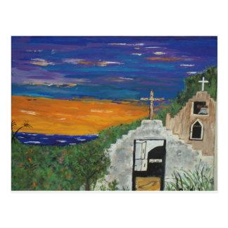 Carte Postale Église mexicaine sur le Pacifique