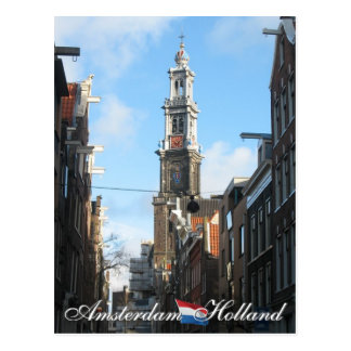 Carte Postale Église occidentale Hollande d'Amsterdam Westerkerk